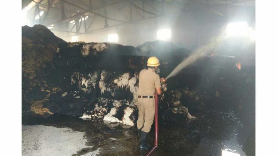 There was a fire in MIDC in Akola