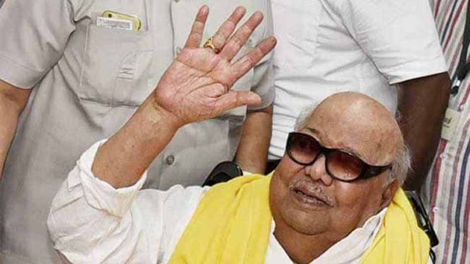 DMK leader M Karunanidhi passed away