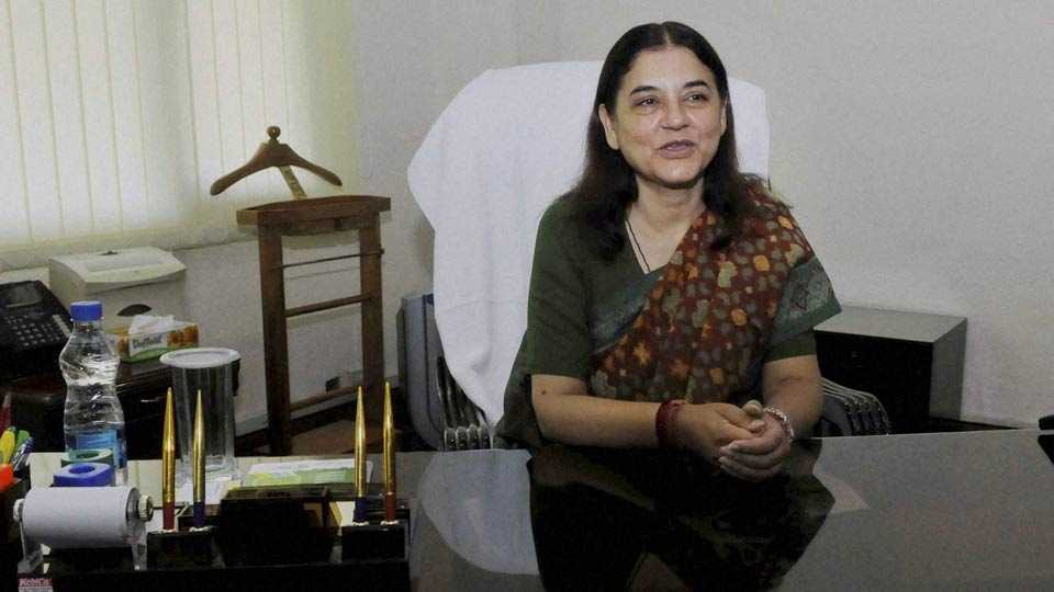 File photo of Maneka Gandhi