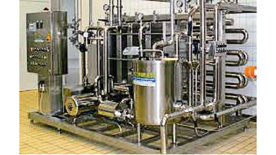 दूध पाश्चरायझेशन यंत्रणा.