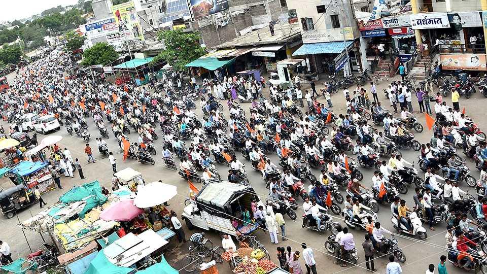 Selu rally maratha kranti morcha esakal news