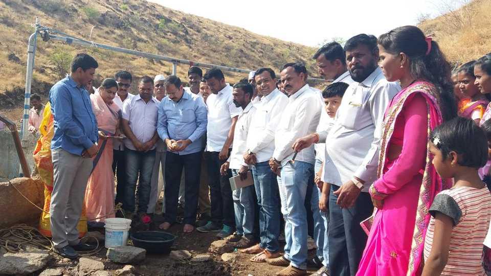 issue of water solved for ashwi village sangamner