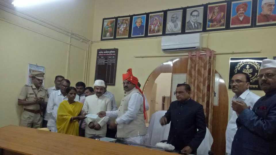 Program at tahasil office Akola