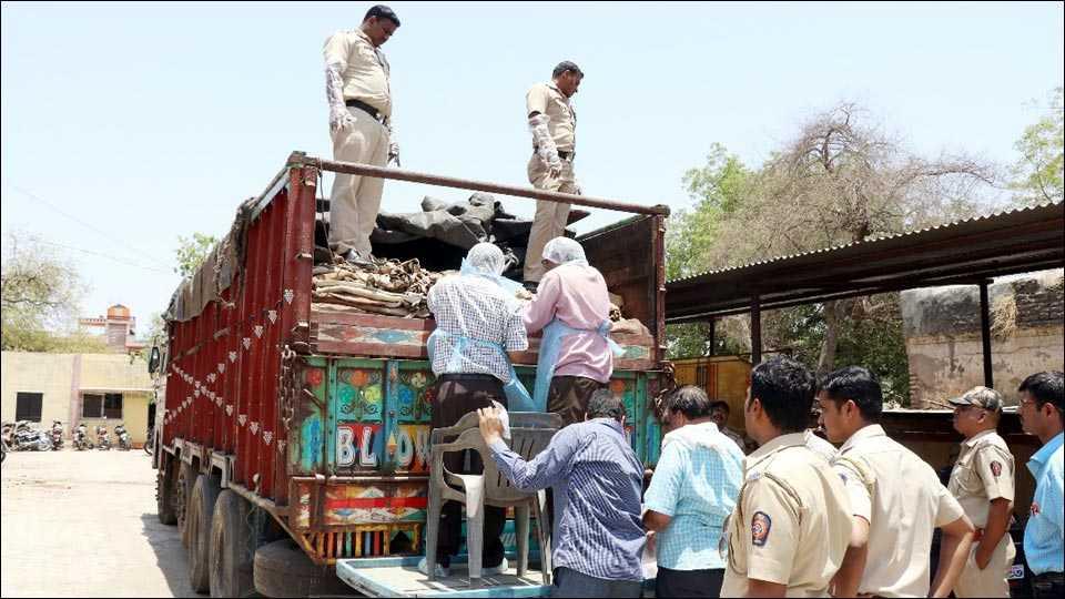 beef, skin seized in aurangabad