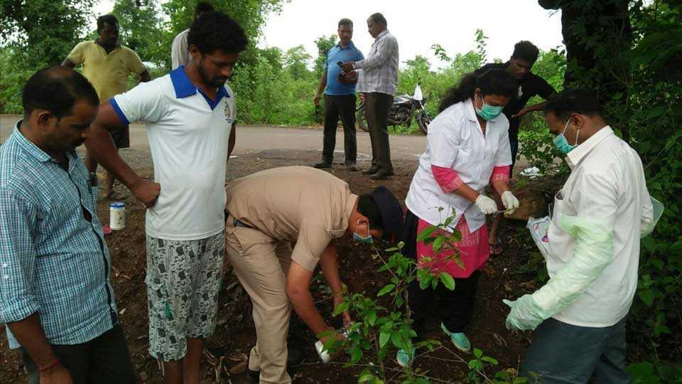 The remains of cattle were found near Jambhulpada in Sudhagad