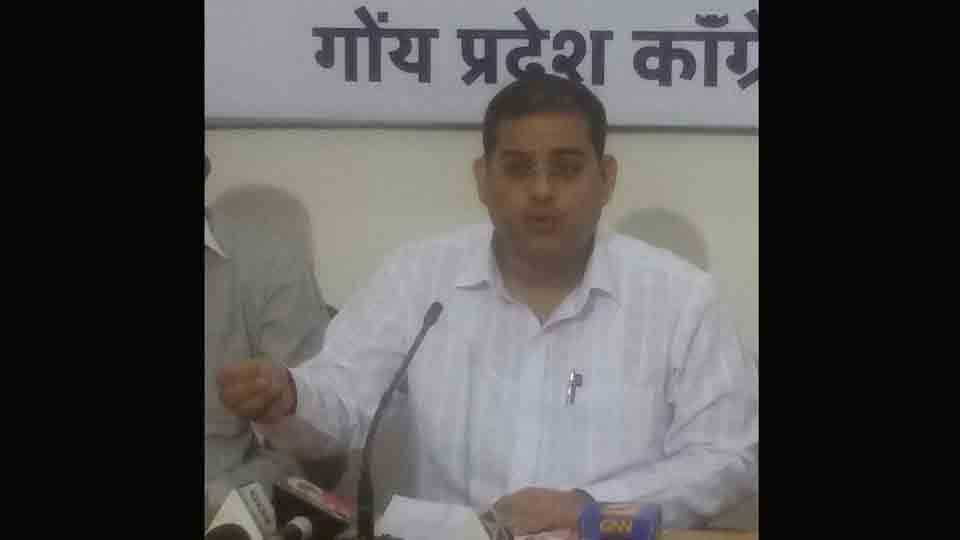 The government is responsible for the bad condition of roads said goa congress