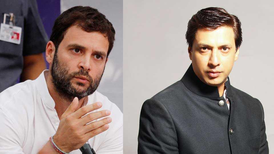madhur asks rahul gandhi about his film indu sarkar  esakal news