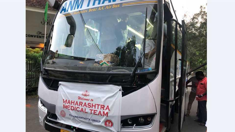 Maharashtra Medical team reaches Kerala