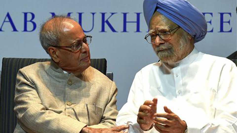 Pranab Mukherjee, Manmohan Singh