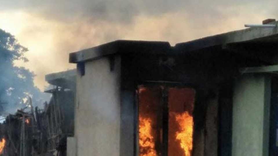 house set ablaze