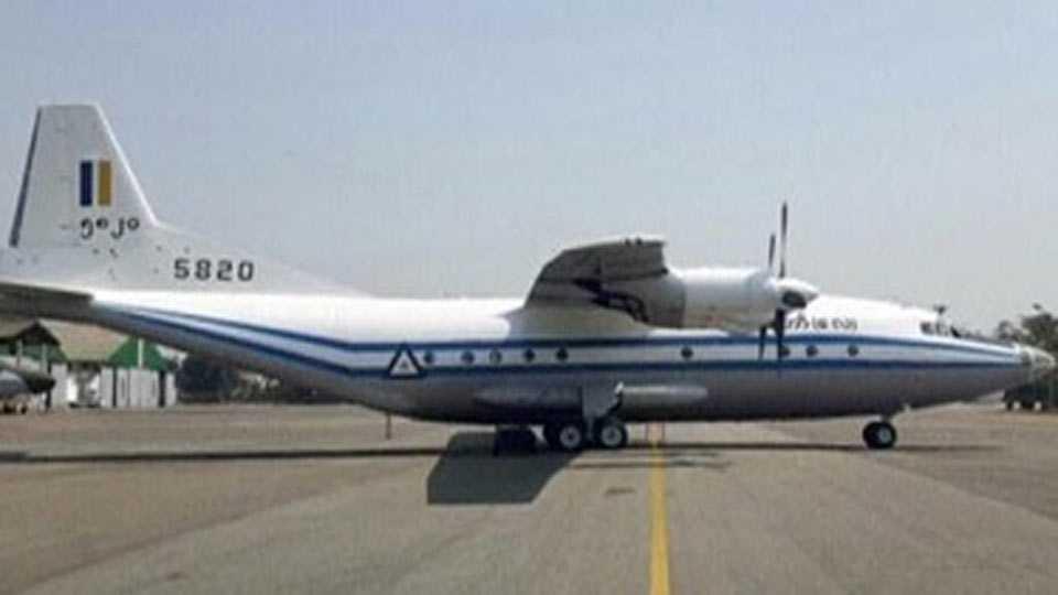 Myanmar military plane's debris located in Andaman Sea