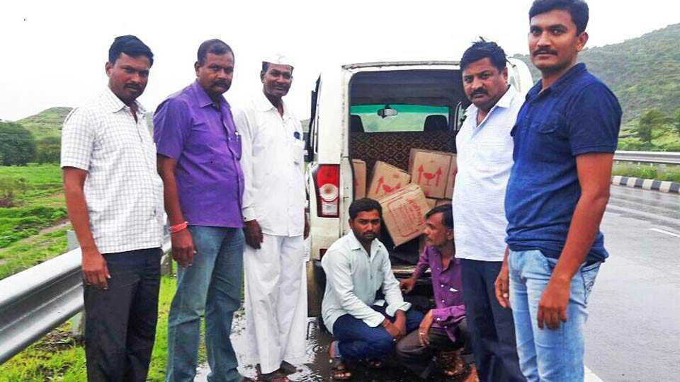 illegal liquor van seized