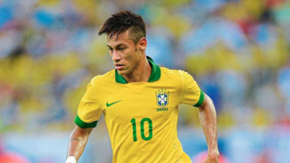 Football player Neymar World Cup
