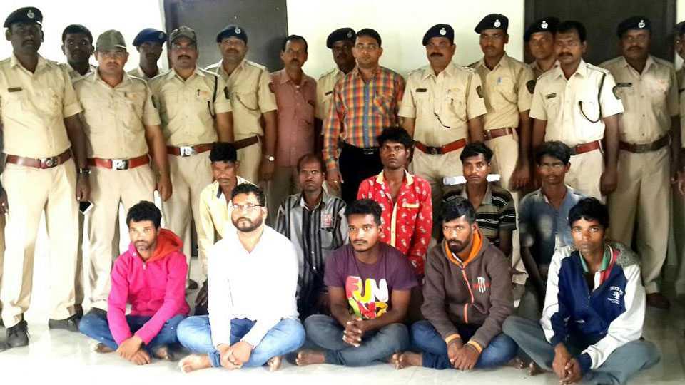 Marathi News_Ten people carrying Khaira's wood were arrested
