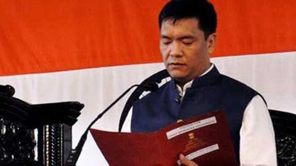 Arunachal gets full-fledged BJP govt as Pema Khandu, 32 others join saffron party