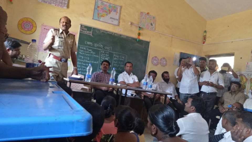 Ganesh Puri police appealed for communal harmony and peace at Kunde