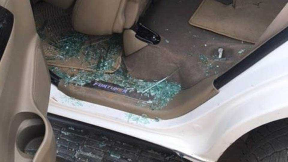 BJP youth leader arrested for attack on Rahul Gandhi's car