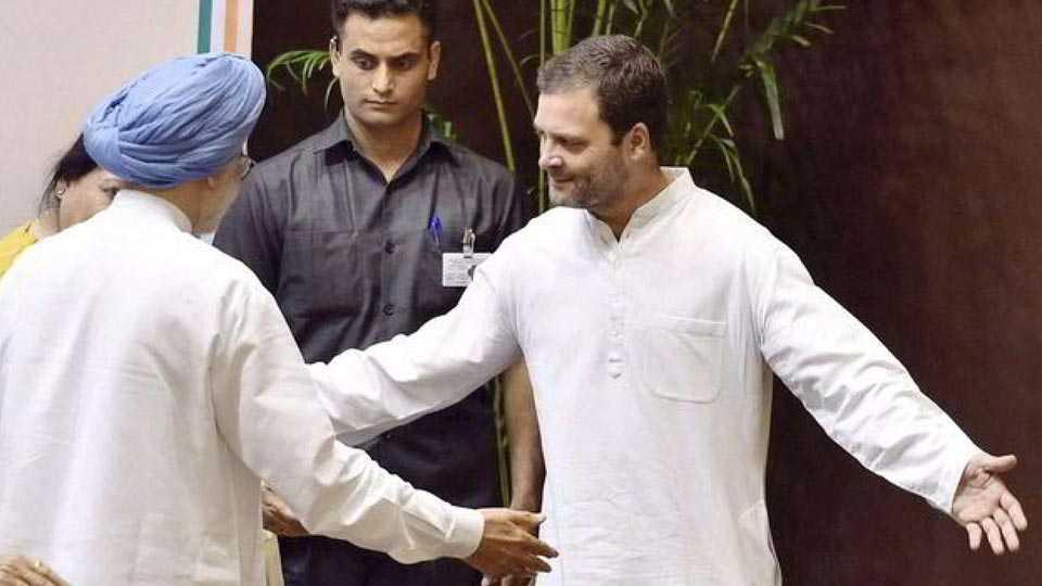Rahul Gandhi and Manmohan Singh