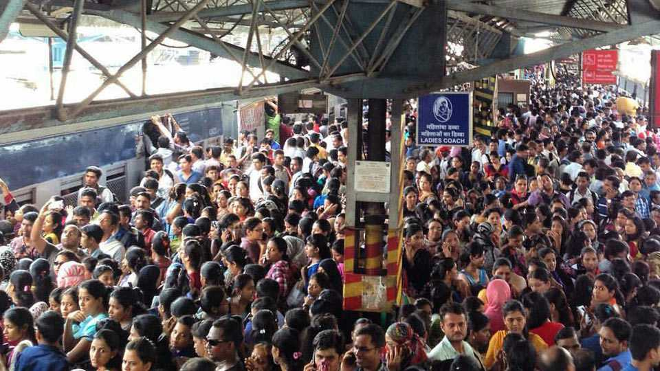Suburban train services hit during peak hours today due to a fault in a Thane-CST train at Vikhroli