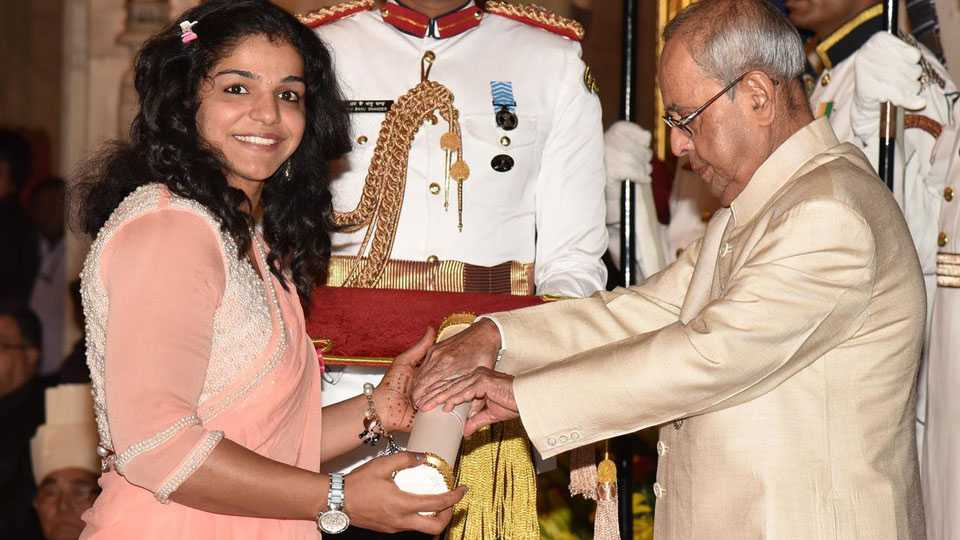 Sakshi Malik got padmashree award