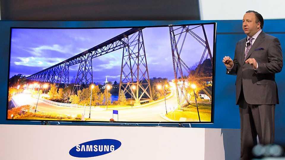 Samsung's focus is still on the big screen TVs