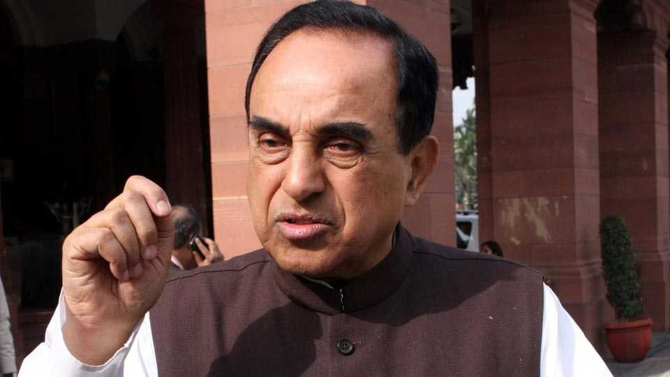 Being gay is against Hindutva says BJP MP Subramanian Swamy