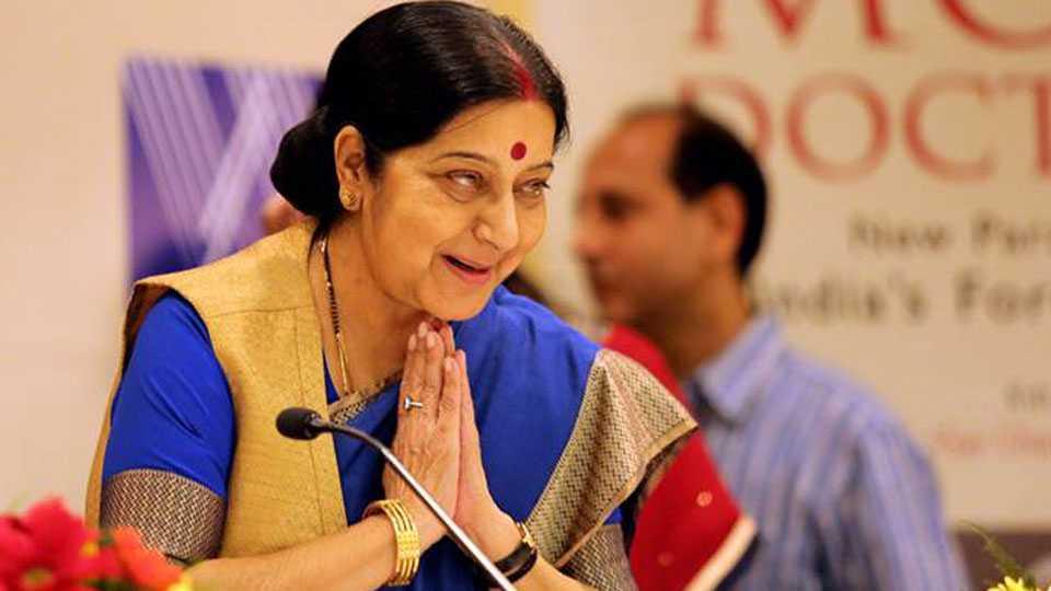 Sushma Swaraj Denies Any Talk With Pakistan