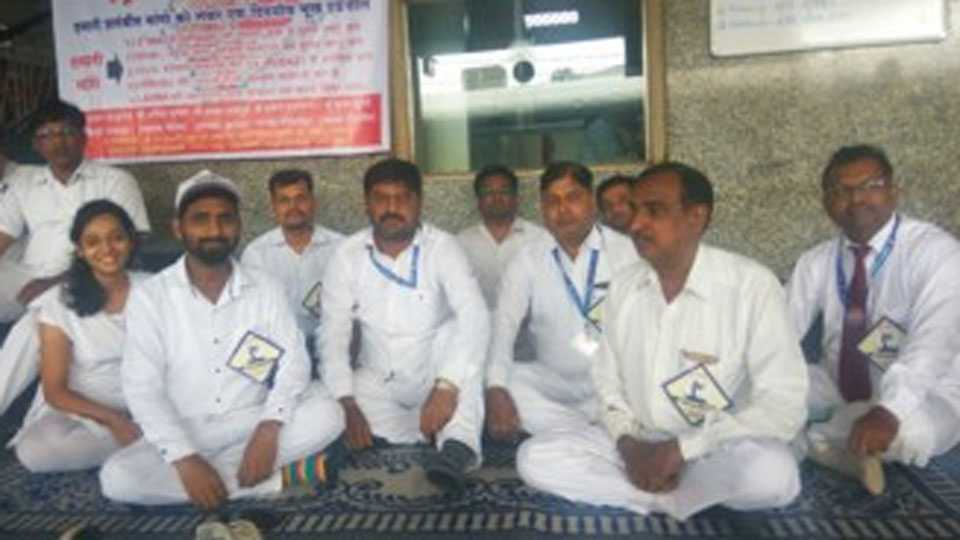 Railway Station Master strike in pune