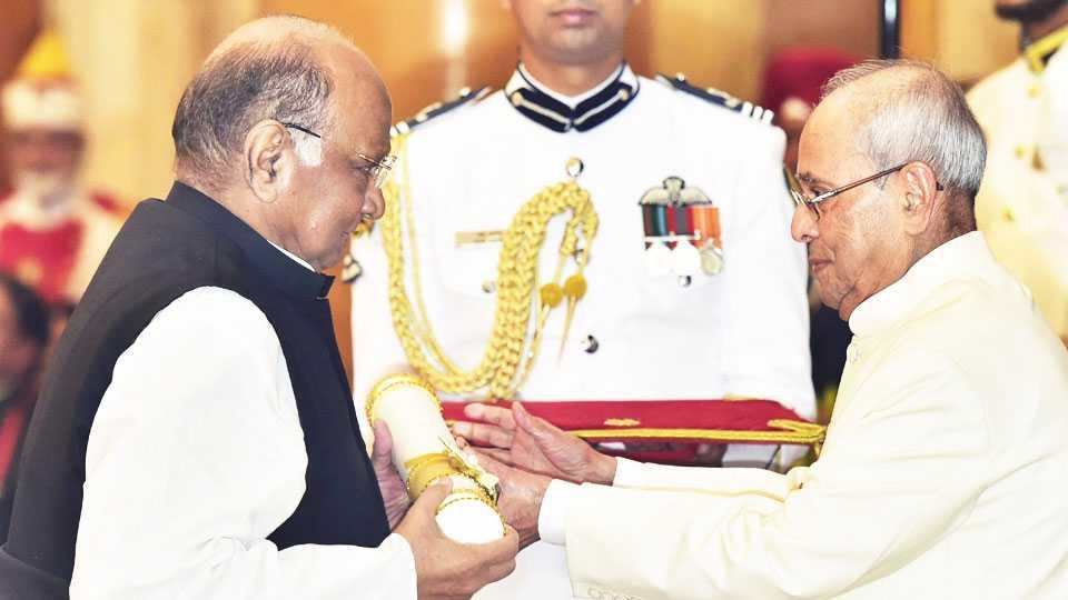 Sharad Pawar padma award