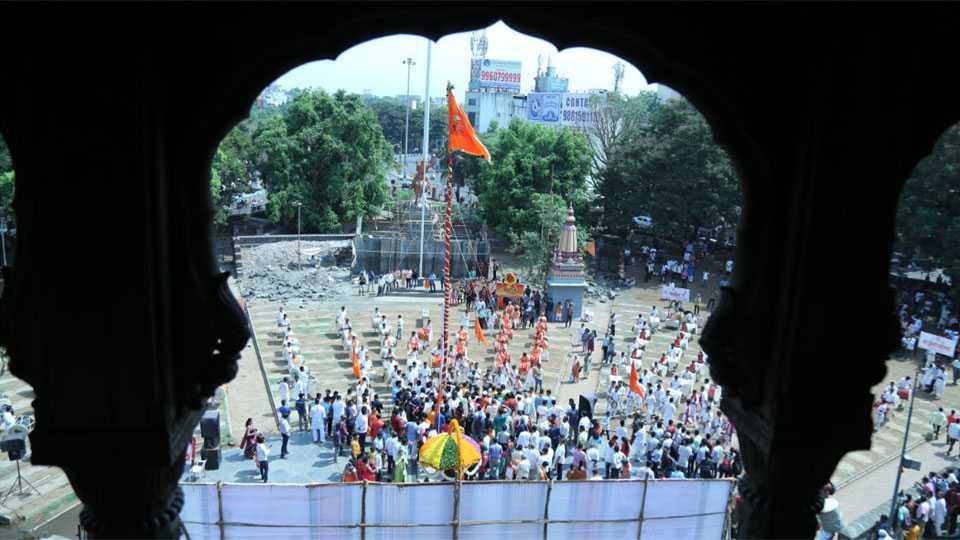shivrajyabhishek day celebration on shaniwarda