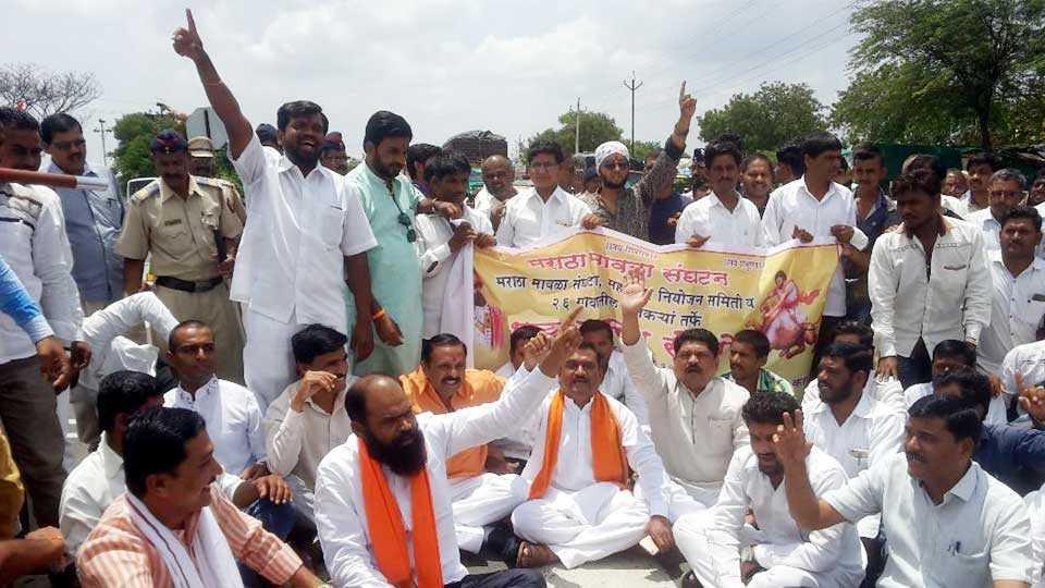 aurangabad news marathi news cidco news rasta roko agiation