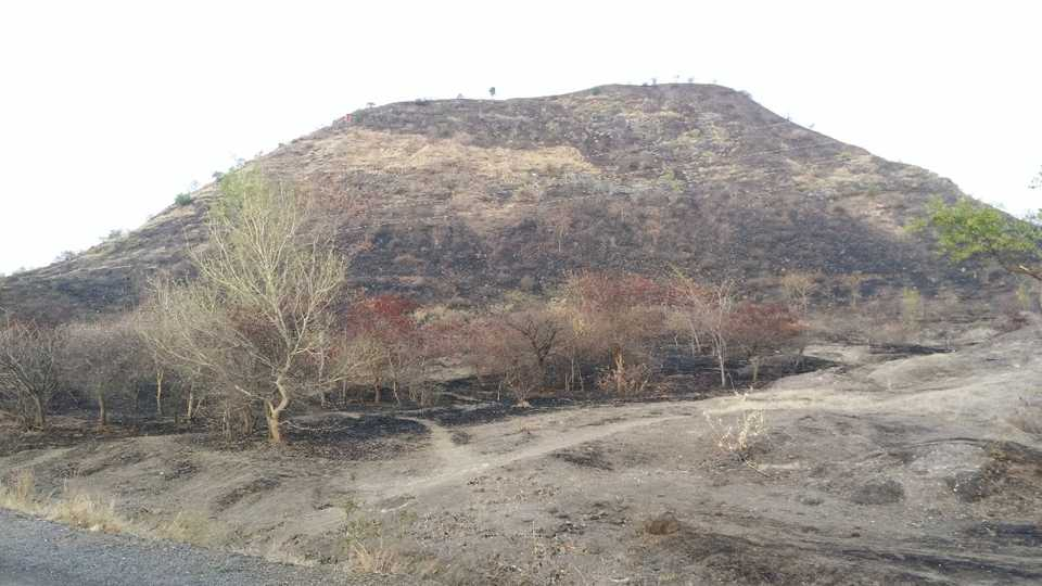 On the west side of Baglan the mountains burned