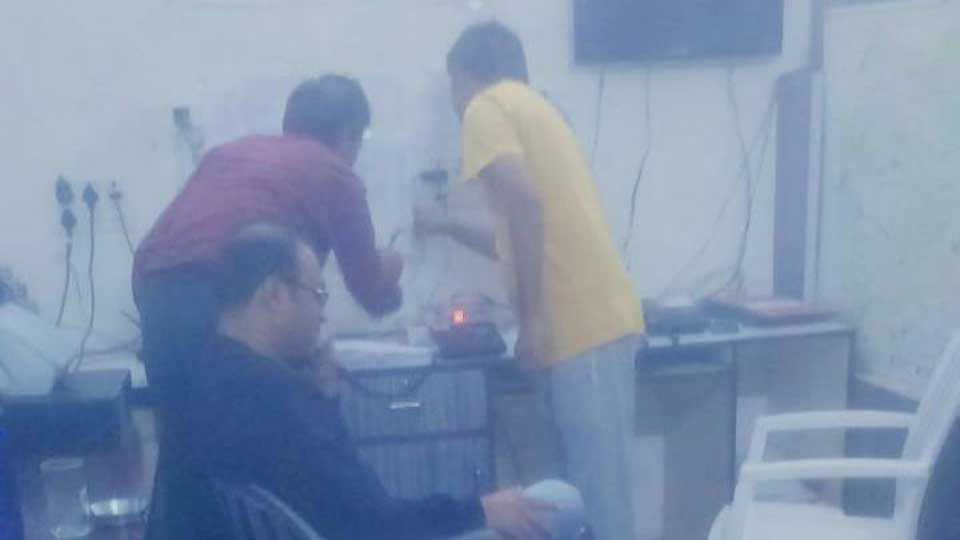 The District Collector took control of the control room