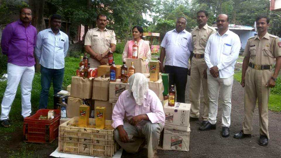 Two lakh illegal liquor seized