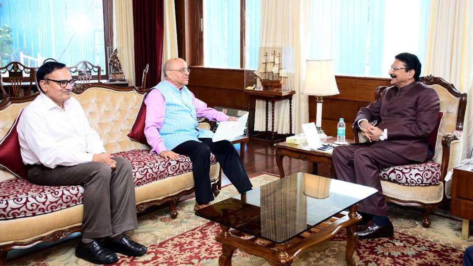 Kasturiranjan Committee Meet Governor Vidyasagar Rao