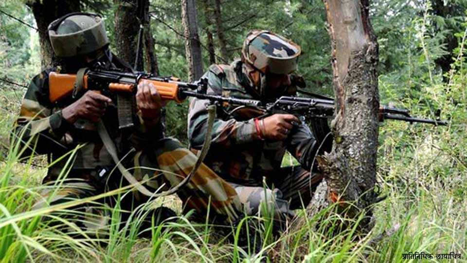 Marathi news Kashmir encounter Bandipora Commando martyred