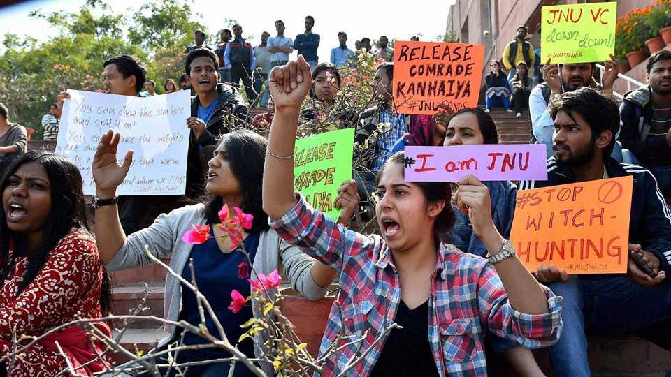 Protests in JNU