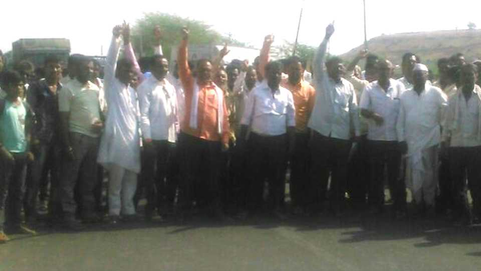 Rastaroko Agitation For Interchange Point in Jalna