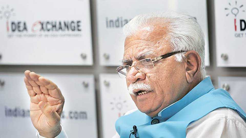 Namaz should be read in mosques, not on roads: Haryana CM Khattar