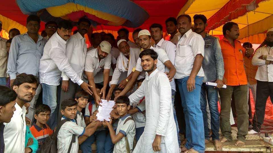 Muslim community supported Maratha agitation