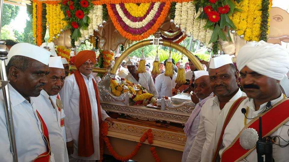 In Chanting of Dnyanoba Tukaram Palakhi begins