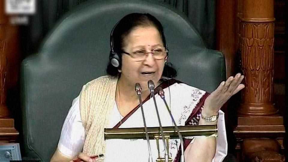 File photo of Sumitra Mahajan