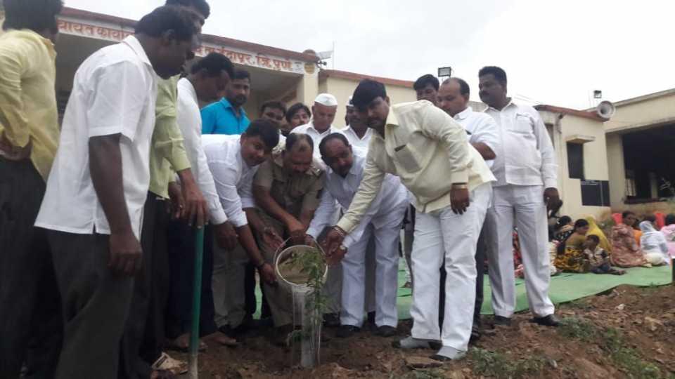 Tree plantation for Shahir Anna Bhau Sathe jayanti
