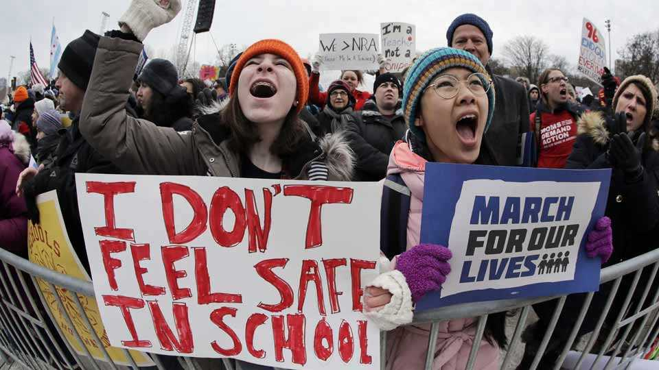 Protests against gun lobby in US