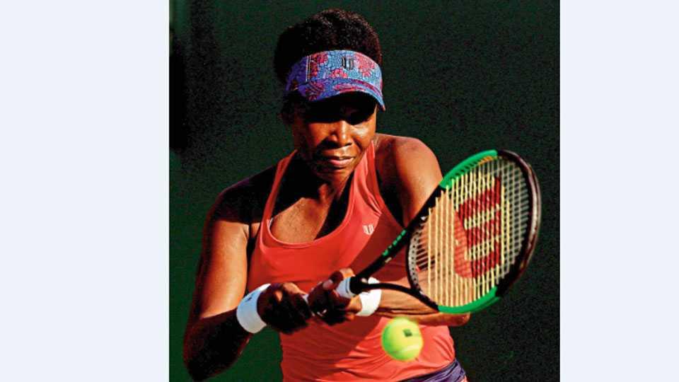 quarter-finals with Venus in Miami Tennis