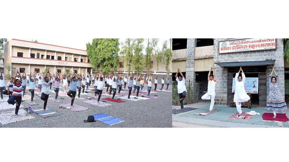 Inauguration of three day yoga training camp in satana