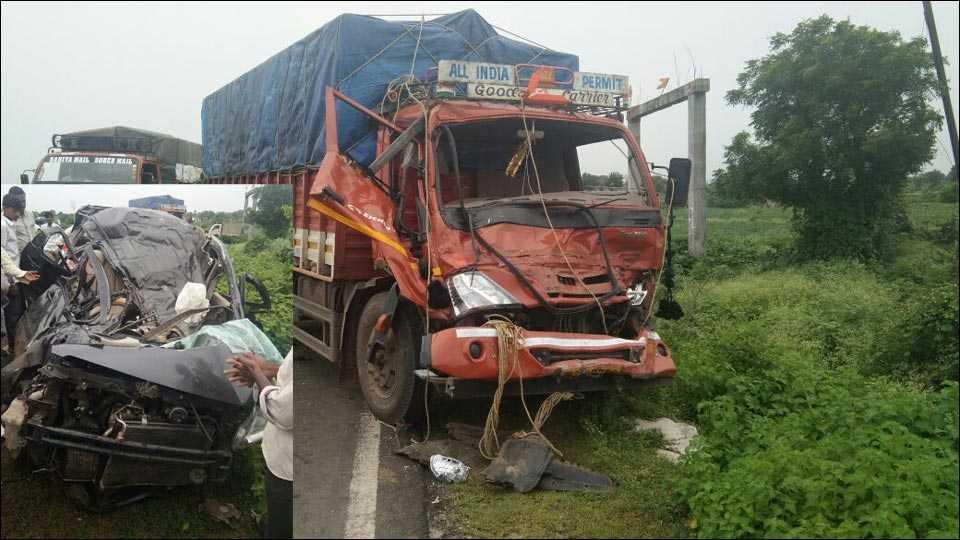 नांदेड-हैदराबाद महामार्गावर अपघात; तीन ठार, तीन जखमी