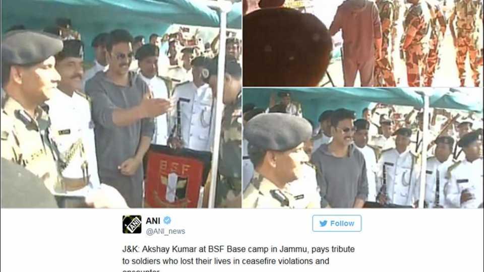 bsf jawans are real heroes- akshay kumar