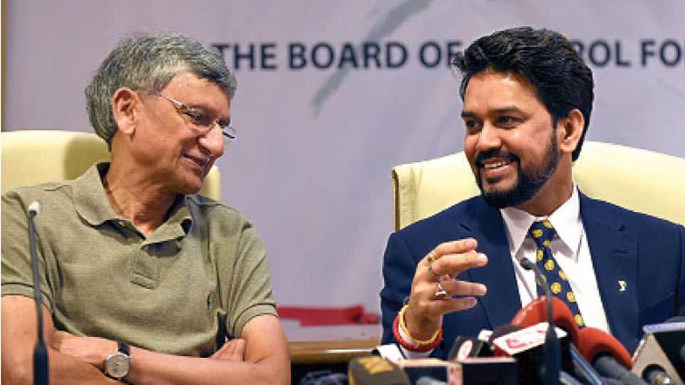 Ajay Shirke and Anurag Thakur
