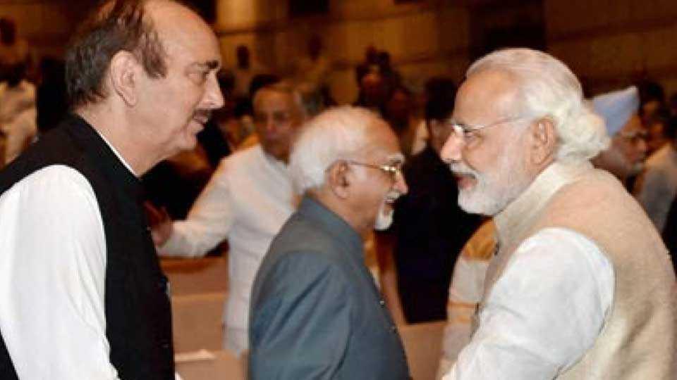 Ghulam Nabi Azad & Narendra Modi